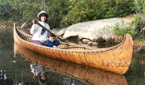 18' Fur-Trade type birchbark canoe